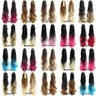 Synthetic Ombre Claw Wavy Curly Ponytail Thick Pony Tail Clip In Hair Extensions