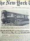 4 1963 NY Times newspapers RecordSetting Crime GREAT TRAIN ROBBERY Great Britain