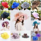 Noble Lady Wide Brim Kentucky Derby Sun Hat Women Wedding Tea Party Church Cap