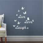 3D Acrylic Butterfly Mirror Wall Sticker Room Decal Mural DIY Home Decoration
