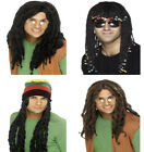 Mens Rasta Wig Dreadlock Wig Jamaican Caribbean Fancy Dress