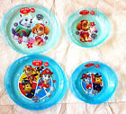 Girl Boy Paw Patrol  2 Piece Microwave Safe  Plate and Bowl 3 Yrs + New