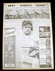 1938 newspaper Baseball PITCHER JOHNNY VANDER MEER throws CONSECUTIVE NO HITTERS