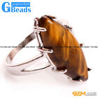 Natural 16x30mm Gemstone Women Fashion Silver Plated Finger Ring Free Shipping