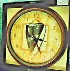NAUTICAL SHELL WALL CLOCK by Kirch Verichron Battery Operated LARGE