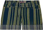 Ladies New Denim Jeans Striped Shorts Women Summer Bottoms Trousers UK8 10 12 14