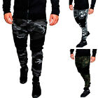 Men Camouflage Camo Sport Pant Sweatpants Gym Jogger Work Out Training Trousers
