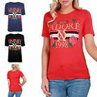 Womens Ladies Round Neck J'Adore 1998 Jersey Celebrity Inspired Tee Top T Shirt