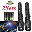 9sets Tactical 50000LM T6 Zoom LED Flashlight Torch Lamp+18650battery+Charger US