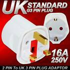 EU Euro 2 Pin to UK 3 Pin Plug AC Universal Adapter Travel Converter European