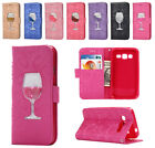 Glasses Bling Glitter Wallet Case Stand Cover for Samsung Galaxy SM-G530 G360