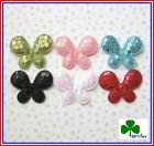 "(36 - 60 pcs) x 1.5"" Mix Shiny Sequined Felt Butterfly Padded Appliques ST242M"
