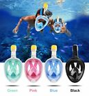 Full Face Snorkeling Mask Scuba Diving Swimming Snorkel Breather Pipe