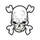 Skull Decal Biker Crossbones Skulls Motorcycle Helmet Gloss Sticker S1 HVG