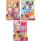 Barbie Indoor Furniture Pack Choose- Dining for Two, Pet Play or Movie Night