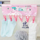 Home Bathroom Travel Foldable Portable Hangers Rack Towel Clothespin Clothes Peg