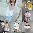 Fashion Suit Baby Toddler Girl Cute Cotton Pullover  Bandage Suit Mini Dress