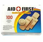 New First Aid Waterproof Bandage Self Adhesive Fabric Plasters 4 Size 100 Packed