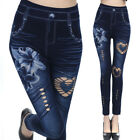 Hot Womens Leggings Skinny High Waist Jeans Trousers Denim Stretchy Pencil Pants