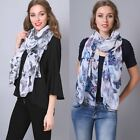 Butterfly Soft Thin Long Summer Scarf Scarves Wrap Stole Shawl Wide Beach Sarong