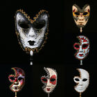 New Venetian Mask On Stick Mardi Gras Mask for Women Masquerade Party Prom Ball