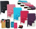 Stylish Kitty Bow Book Flip Cover For Galaxy Model Magnetic Buckle PU Leather