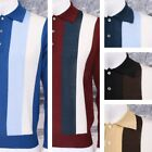Adaptor Clothing Retro Made in Italy Merino Wool L/S Stripe POLO Neck