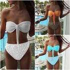 Summer Beach Three-point Swimsuit Bikini High Waist Bandage Bikini Set Swimwear