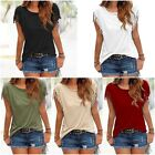 Summer Fashion Casual Women Ladies Fringe Solid Color Sleeve Blouse T Shirt