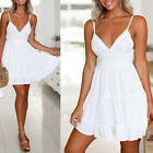 Elegant Women's Sexy White Backless Summer Beach Dresses Cocktail Boho Party hot