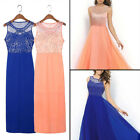 Women Chiffon Evening Party Ball Prom Gown Formal Cocktail Wedding Long Dress
