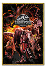 Jurassic World Fallen Kingdom Montage Poster Framed Cork Pin Board With Pins