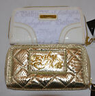 baby phat wallet - Baby Phat Zip Around Wallet Purse White Logo or Gold Snake Print New Defect