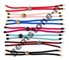 18K Rainbow Cotton Rope Chain Slider For Adjustable Connector Bracelet Finding