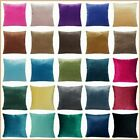 """24x24"""" Soft Velvet Solid Multi-Color Throw PILLOW COVER Sofa Couch Cushion Case"""
