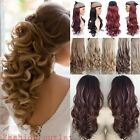 100% real thick clip in one piece hair extensions full head 5clips for human fnt