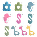 teething chew - Baby Teether Teething Collares Pacifier Clips Chew Toy Silicone BPA FREE