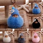 JP Cute Sleep Baby Doll Key Chains Rabbit Fur Ball Car Keyring Bag Key Pendant