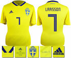 LARSSON 7 - SWEDEN HOME 2018 WORLD CUP ADIDAS SHIRT SS = ADULTS