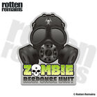 Zombie Gas Mask Response Unit Decal Biohazard Outbreak Gloss Sticker HVG