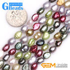 """5-6mm Freeform Grey Multi-color Freshwater Pearl Bead for Jewelry Making 15"""""""
