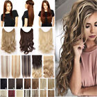 One Piece Secret Headband No Clip Wire In Hair Extensions Natural Long Wavy FY8