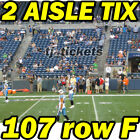 2 AISLE TIX: Los Angeles Chargers @ Seattle Seahawks NFL FOOTBALL 11/04 107rowF $639.0 USD on eBay