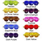 WHOLESALE GLASS BEADS FACETED ROUND 10 COLORS PURPLE BLUE GREEN FUCHSIA RED 6MM