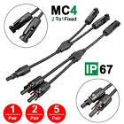 5 Pair MC4 Y Branch Solar Panel 30A Cable Connector FFM MMF Set Wire T Splitter