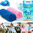 Ice Cold Cooling Towel For Running Jogging Gym Chilly Pad Instant Sports Yoga US image