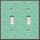 Metal Light Switch Plate Cover Green Tribal Pattern Home Decor Switch Plates