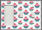 Metal Light Switch Plate Cover Kitchen Cupcakes Pink Cupcakes On White Decor