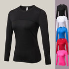 Quick Dry Women Long Sleeve Fitness Gym Running Yoga T-Shirt