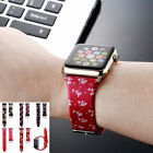 Classic Birds Flower Silicone Wrist Band Strap For Apple Watch Series 38mm 42mm